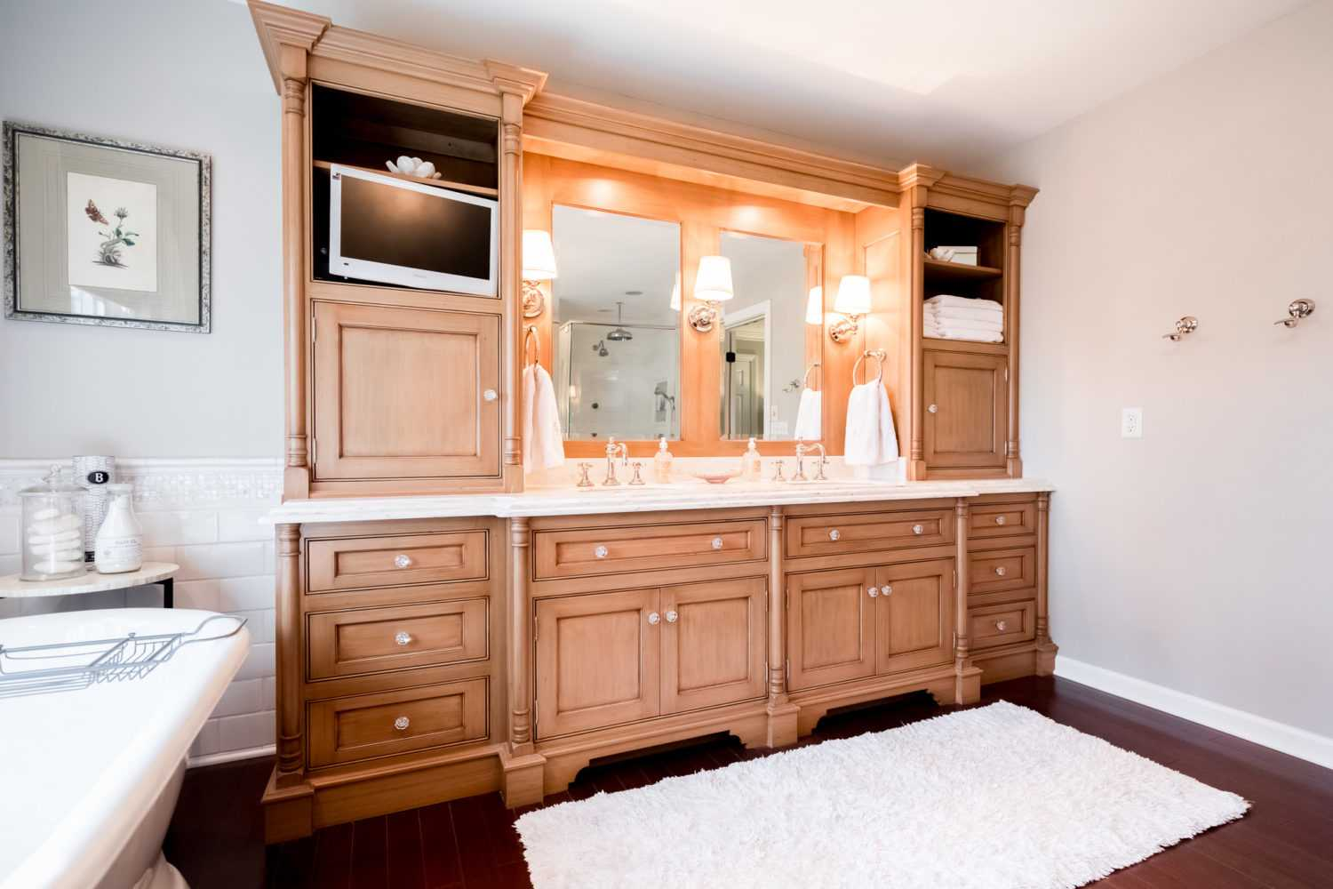 Luxury Maple Bathroom Wall Cabinet